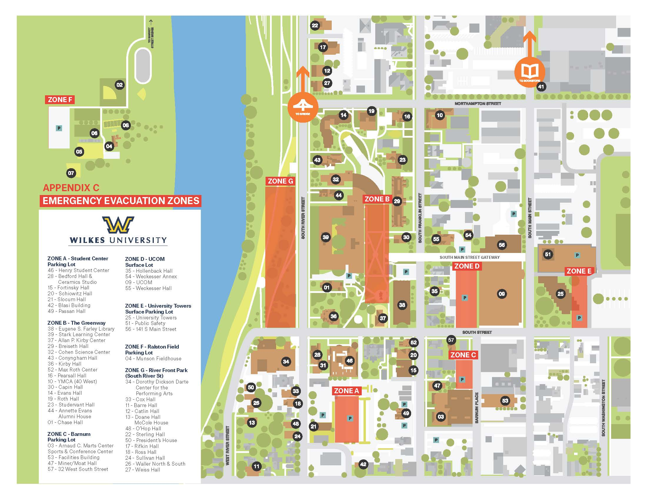 wilkes university campus map Emergency Evacuation Procedures Wilkes University wilkes university campus map